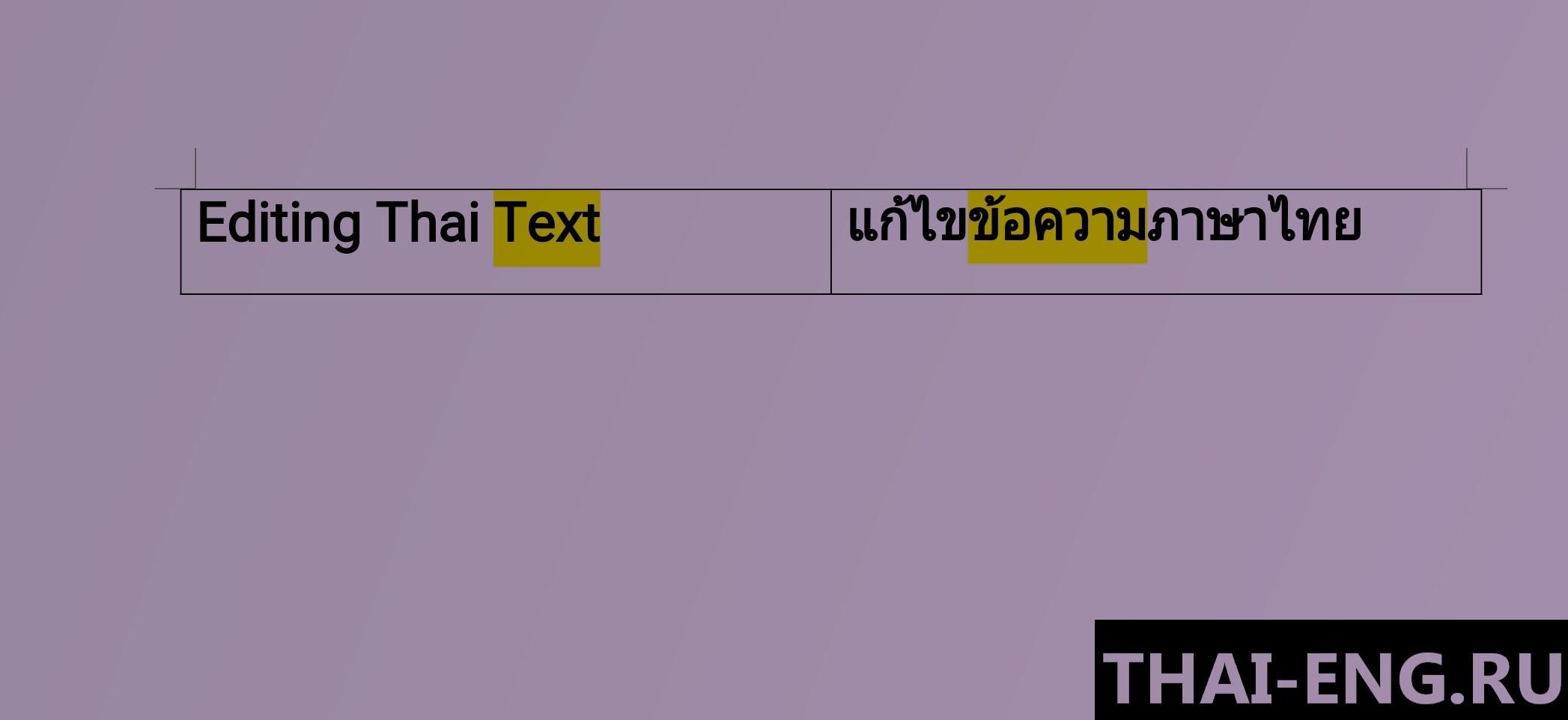 Редактирование переводов тайского языка