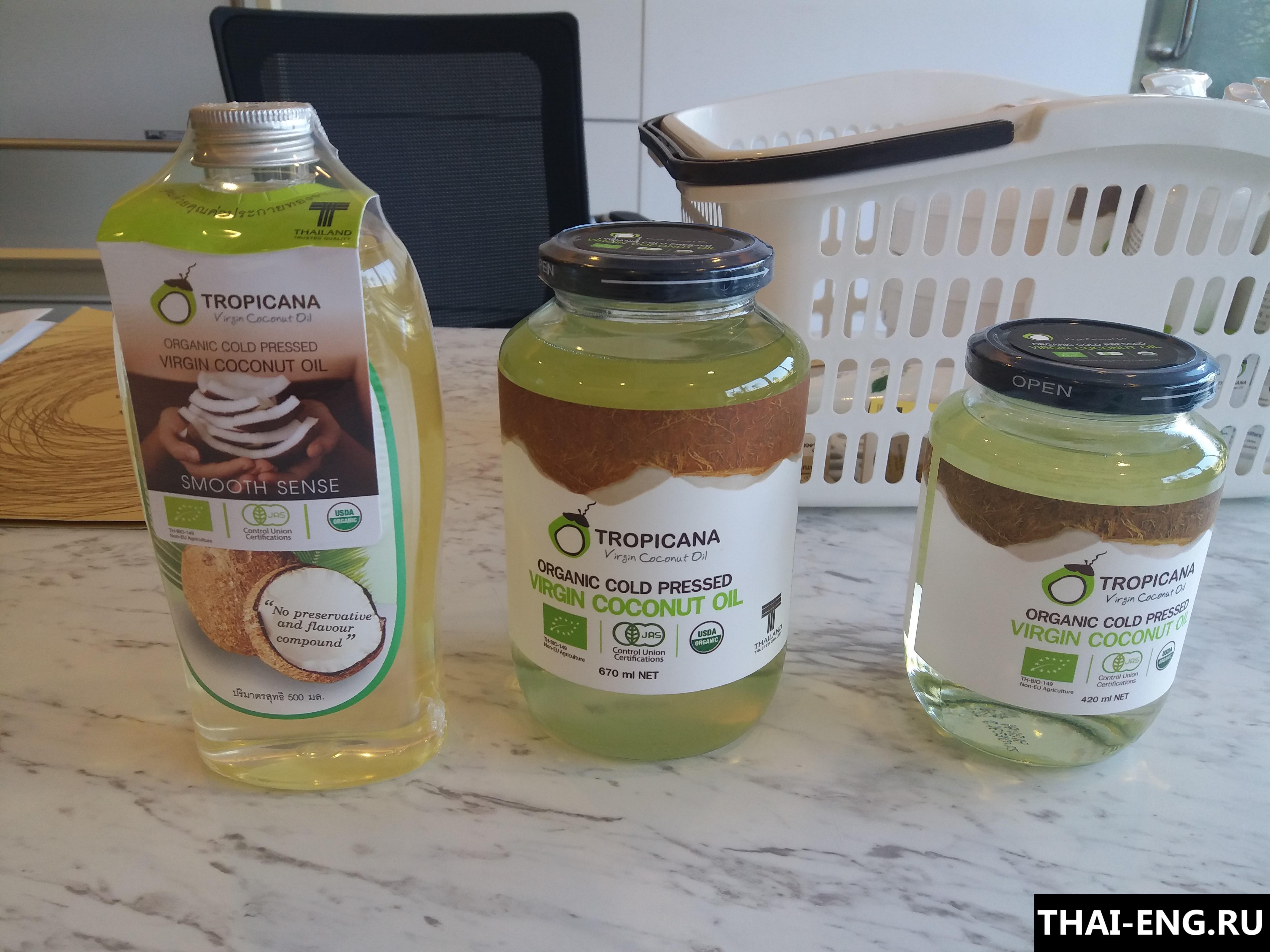 Экспорт кокосового масла из Таиланда
