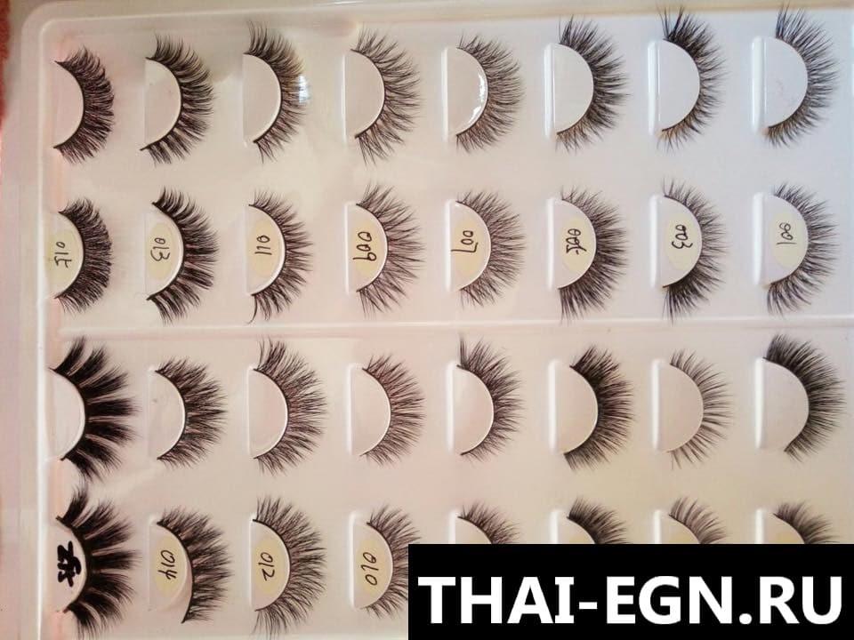 Экспорт ресниц из Таиланда